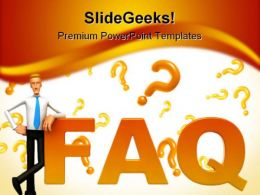 Faq People PowerPoint Template 0910