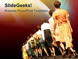 Fashion Show Entertainment PowerPoint Templates And PowerPoint Backgrounds 0311