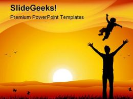Father And Child Family PowerPoint Templates And PowerPoint Backgrounds 0611