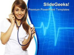 Female Doctor Medical PowerPoint Templates And PowerPoint Backgrounds 0511