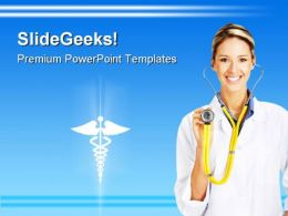 Female Doctor Medical PowerPoint Templates And PowerPoint Backgrounds 0811