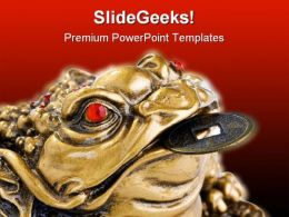 Feng Shui Frog Religion PowerPoint Templates And PowerPoint Backgrounds 0511