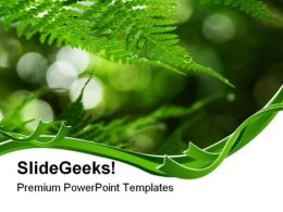 Fern Frond Frame Nature PowerPoint Templates And PowerPoint Backgrounds 0511