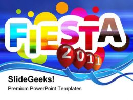 Fiesta Live 2011 Events PowerPoint Templates And PowerPoint Backgrounds 0411