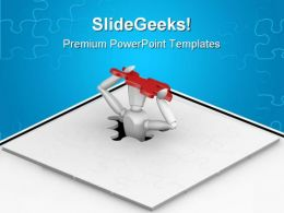 Final Piece Puzzle Business PowerPoint Templates And PowerPoint Backgrounds 0811