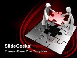Final Puzzle Business PowerPoint Templates And PowerPoint Backgrounds 0511