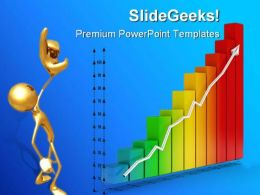 Financial Graph PowerPoint Backgrounds And Templates 0111