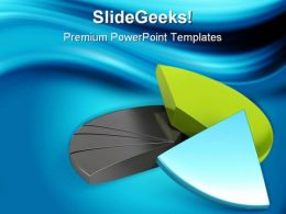 Financial Pie Chart Business PowerPoint Templates And PowerPoint Backgrounds 0411