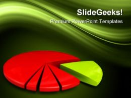 Financial Pie Chart Success PowerPoint Templates And PowerPoint Backgrounds 0411