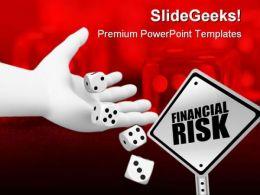 Financial Risk Business PowerPoint Backgrounds And Templates 1210