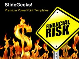 Financial Risk Finance PowerPoint Background And Template 1210