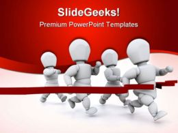 Finish Line Business PowerPoint Templates And PowerPoint Backgrounds 0811