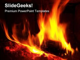 Fire Abstract PowerPoint Templates And PowerPoint Backgrounds 0411