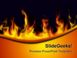 Fire Flames Abstract PowerPoint Templates And PowerPoint Backgrounds 0411