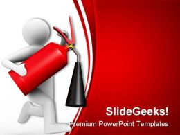 Fire Man Realestate PowerPoint Backgrounds And Templates 0111  Presentation Themes and Graphics Slide01