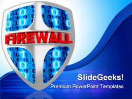 Fire Wall Technology PowerPoint Templates And PowerPoint Backgrounds 0211