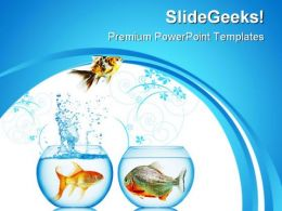 Fish Runs Away Animals PowerPoint Templates And PowerPoint Backgrounds 0311