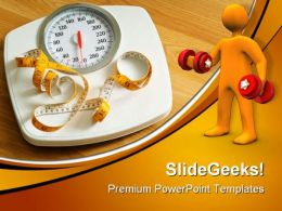 Fitness Scales Health PowerPoint Templates And PowerPoint Backgrounds 0511  Presentation Themes and Graphics Slide01