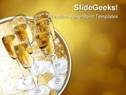 Five Champagne Festival PowerPoint Templates And PowerPoint Backgrounds 0511