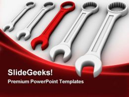 Five Different Spanners Industrial PowerPoint Templates And PowerPoint Backgrounds 0311