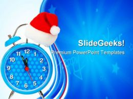 Five Minutes To New Year Festival PowerPoint Templates And PowerPoint Backgrounds 0611
