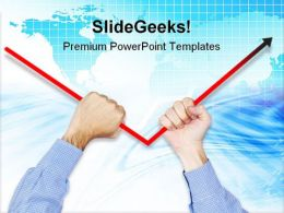 Fixing Negative Arrows Business PowerPoint Templates And PowerPoint Backgrounds 0611