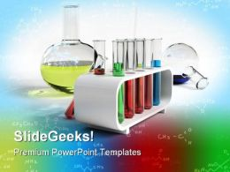 Flasks And Test Tubes Science PowerPoint Templates And PowerPoint Backgrounds 0611