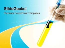 Flasks Science PowerPoint Templates And PowerPoint Backgrounds 0711