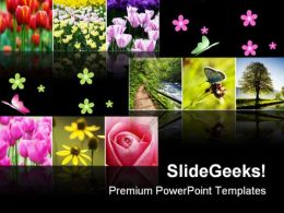 Flower Collage Nature PowerPoint Templates And PowerPoint Backgrounds 0811