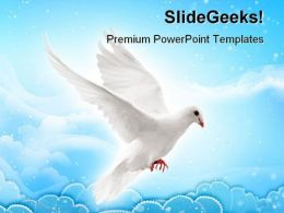 Flying Pigeon Animals PowerPoint Templates And PowerPoint Backgrounds 0511