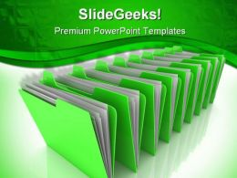 Folder Business PowerPoint Template 0910