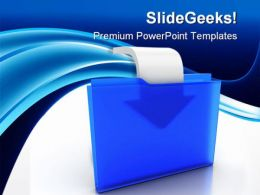 Folder With Arrow Security PowerPoint Templates And PowerPoint Backgrounds 0211