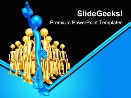 Follows One Leadership PowerPoint Templates And PowerPoint Backgrounds 0511