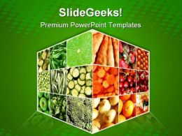 Food Cube Health PowerPoint Templates And PowerPoint Backgrounds 0611