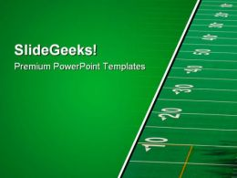 Football Field Sports PowerPoint Templates And PowerPoint Backgrounds 0911