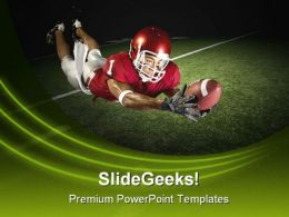 Football Victory Catch Sports PowerPoint Template 1110