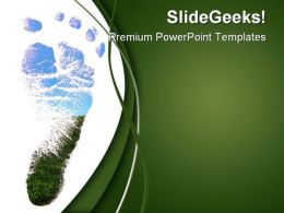 Footprint Nature PowerPoint Templates And PowerPoint Backgrounds 0611