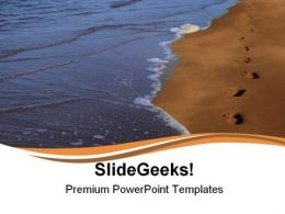 Footprints In Sand Beach PowerPoint Templates And PowerPoint Backgrounds 0811