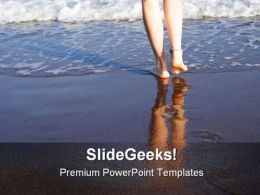 Footsteps People PowerPoint Templates And PowerPoint Backgrounds 0611