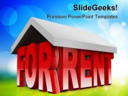 For Rent Real Estate PowerPoint Templates And PowerPoint Backgrounds 0711