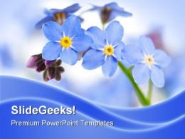 Forget Me Not Nature PowerPoint Templates And PowerPoint Backgrounds 0311
