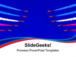 Formation Flight Americana PowerPoint Templates And PowerPoint Backgrounds 0711