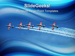 Formation Flight Travel PowerPoint Templates And PowerPoint Backgrounds 0811