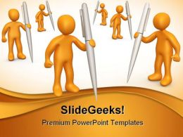 Forum People PowerPoint Template 0910
