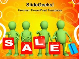 Four Puppets Sales PowerPoint Templates And PowerPoint Backgrounds 0511