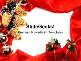 Frame Christmas PowerPoint Template 0610  Presentation Themes and Graphics Slide01