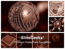 Framed Computer Collage Globe PowerPoint Backgrounds And Templates 1210