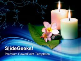 Frangipane Flower With Candles Beauty PowerPoint Templates And PowerPoint Backgrounds 0311  Presentation Themes and Graphics Slide01