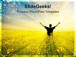 Freedom Success PowerPoint Template 0610