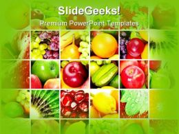 Fresh And Healthy Fruits Food PowerPoint Templates And PowerPoint Backgrounds 0711
